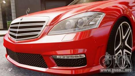Mercedes-Benz S65 W221 AMG v1.3 para GTA 4 visión correcta