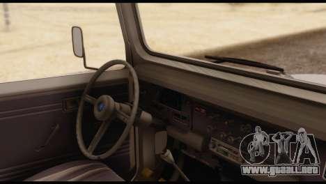 Toyota Land Cruiser (FJ40) 1978 para GTA San Andreas vista posterior izquierda