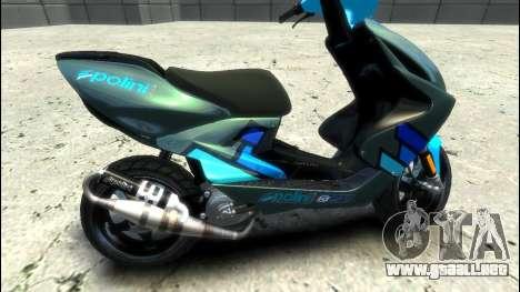 Yamaha Aero X Polini para GTA 4 left