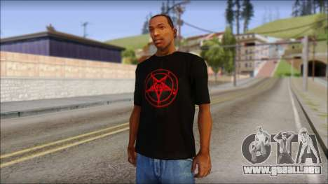 Red Pentagram Shirt para GTA San Andreas
