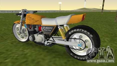 Kawasaki Z400FX Street Drag Racer para GTA Vice City left