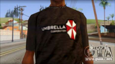 Umbrella Corporation Black T-Shirt para GTA San Andreas tercera pantalla