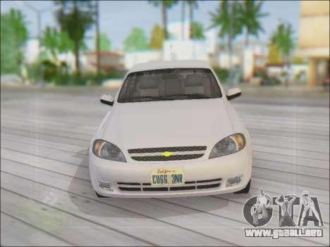 Chevrolet Lacetti para la vista superior GTA San Andreas