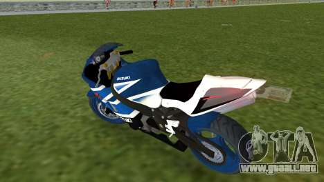 Suzuki GSX-R 1000 para GTA Vice City vista lateral izquierdo