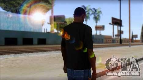 DG Negra T-Shirt para GTA San Andreas segunda pantalla