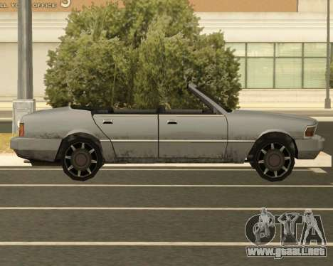 Centinela Convertible para GTA San Andreas left