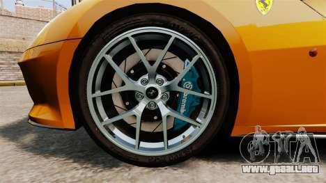 Ferrari 599 GTO PJ2 para GTA 4 vista hacia atrás