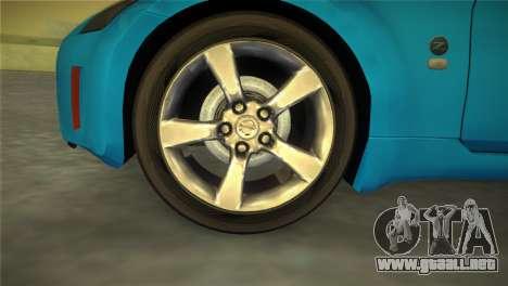 Nissan 350Z para GTA Vice City vista lateral izquierdo