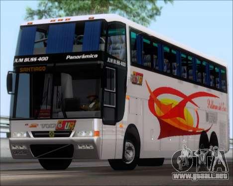 Busscar Jum Buss 400 Volvo B10R Pullman Del Sur para GTA San Andreas left