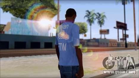 Nyan Cat FTW T-Shirt para GTA San Andreas segunda pantalla