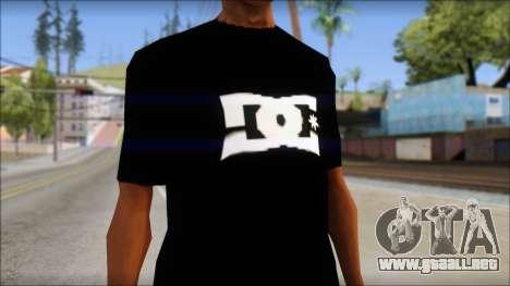 DC Shoes Shirt para GTA San Andreas tercera pantalla