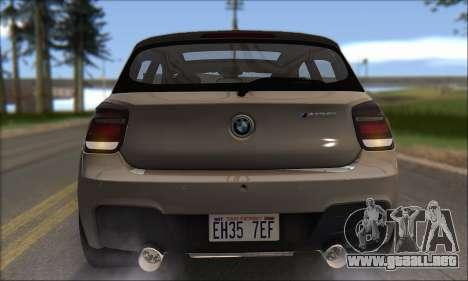 BMW M135i para vista inferior GTA San Andreas