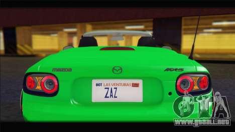 Mazda MX-5 2010 para visión interna GTA San Andreas