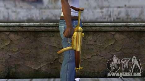 MP5 Gold from CSO NST para GTA San Andreas tercera pantalla