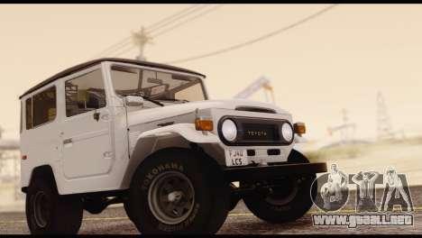 Toyota Land Cruiser (FJ40) 1978 para la visión correcta GTA San Andreas