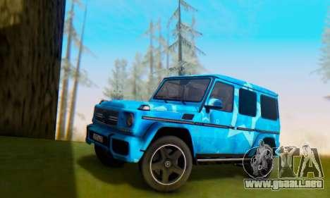 Mercedes-Benz G65 Blue Star para la vista superior GTA San Andreas