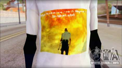 Monster von Back O Beyond T-Shirt para GTA San Andreas tercera pantalla