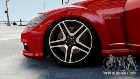 Mercedes-Benz S65 W221 AMG v1.3 para GTA 4 vista desde abajo