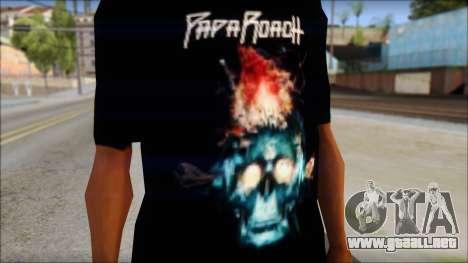 Papa Roach The Connection Fan T-Shirt para GTA San Andreas tercera pantalla