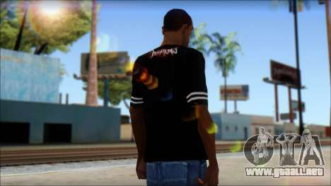 Billabong T-Shirt Black para GTA San Andreas segunda pantalla