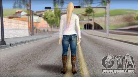 Sarah from Dead or Alive 5 v4 para GTA San Andreas segunda pantalla