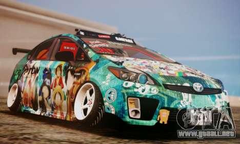 Toyota Prius Hybrid 2011 Helaflush para vista lateral GTA San Andreas