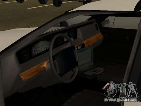 Police Original Cruiser v.4 para vista inferior GTA San Andreas