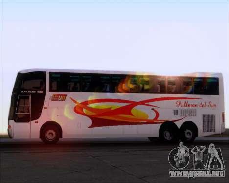 Busscar Jum Buss 400 Volvo B10R Pullman Del Sur para el motor de GTA San Andreas