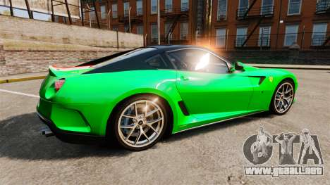 Ferrari 599 GTO PJ4 para GTA 4 left