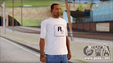 Rockstar Games White T-Shirt para GTA San Andreas