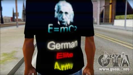 German Elite Army Emcore Fan T-Shirt para GTA San Andreas tercera pantalla