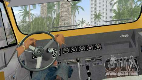 Jeep Wrangler 1986 v4.0 Fury para GTA Vice City vista lateral izquierdo
