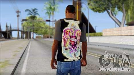 Ed Hardy T-Shirt para GTA San Andreas segunda pantalla