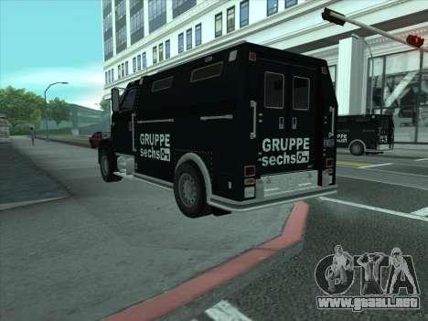Securicar из GTA 3 para GTA San Andreas vista posterior izquierda