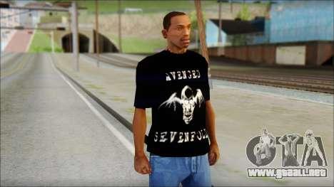 A7X Waking The Fallen Fan T-Shirt para GTA San Andreas