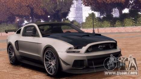 Ford Mustang GT 2014 Custom Kit para GTA 4 visión correcta