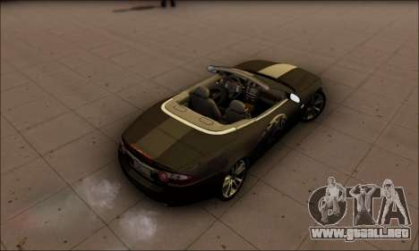 Jaguar XK 2007 para GTA San Andreas vista posterior izquierda