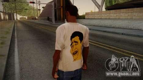Yao Ming T-Shirt para GTA San Andreas segunda pantalla