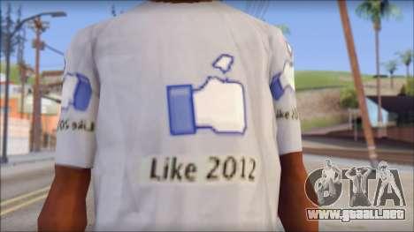 The Likersable T-Shirt para GTA San Andreas tercera pantalla