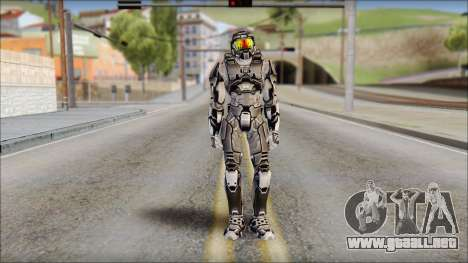 Masterchief Black from Halo para GTA San Andreas
