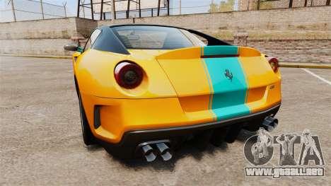Ferrari 599 GTO PJ2 para GTA 4 Vista posterior izquierda