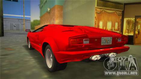 Lamborghini Countach 1988 25th Anniversary para GTA Vice City left