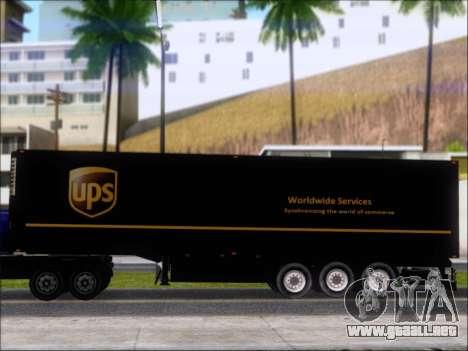 Прицеп United Parcel Service para GTA San Andreas vista hacia atrás