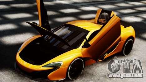 McLaren 650S Spider 2014 para GTA 4 Vista posterior izquierda