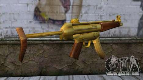 MP5 Gold from CSO NST para GTA San Andreas segunda pantalla