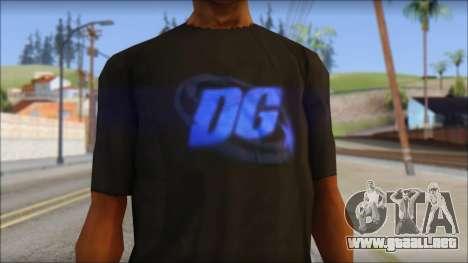 DG Negra T-Shirt para GTA San Andreas tercera pantalla