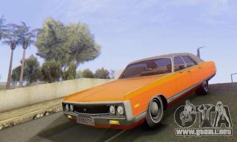 Chrysler New Yorker 1971 para visión interna GTA San Andreas