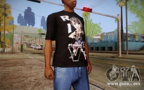 Anime Nabilah Shirt para GTA San Andreas tercera pantalla