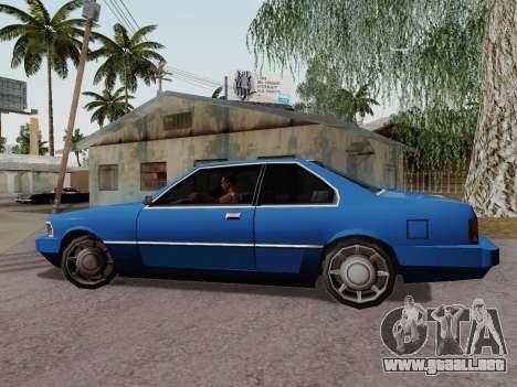 Sentinel Coupe para GTA San Andreas left