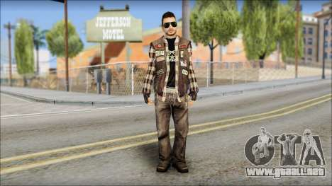 Biker from Avenged Sevenfold para GTA San Andreas